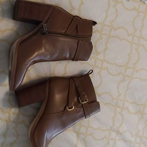 Michael Kors brown leather booties boots